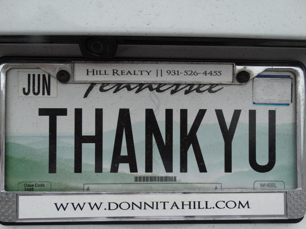 Donnita's license plate 066