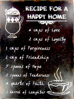 happy home wall plaque